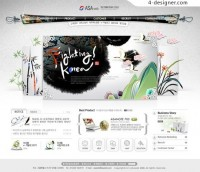 Korean classical motifs Web Design PSD material