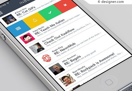 Mail application app psd material