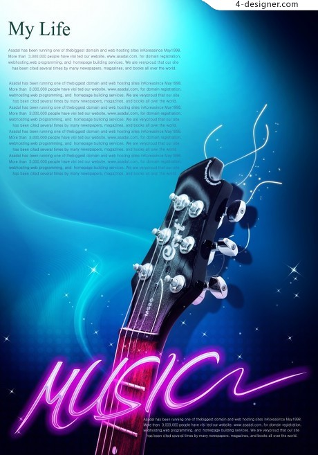 Music poster design psd material