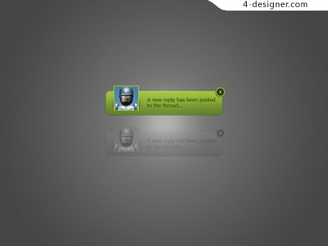 Personalized notification message UI design psd material