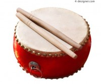 Practical festive Chinese drums layered material