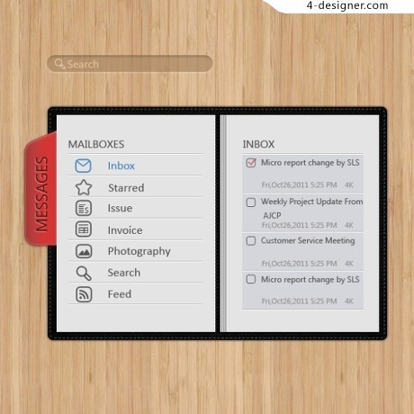 Realistic wood material notebook psd material