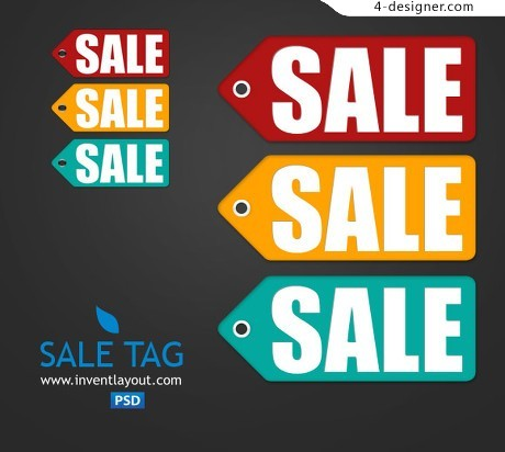 SALE label psd material