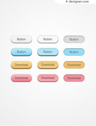 Simple button design psd material