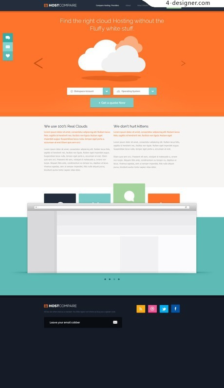 Simple color pages PSD material