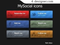 Social platform to share icon psd material