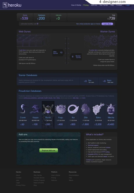 Some famous site interface UI