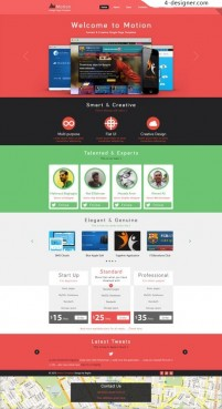 Studio page template psd material