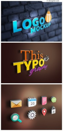 The 3D icon PSD material