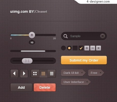 UI web design elements psd material