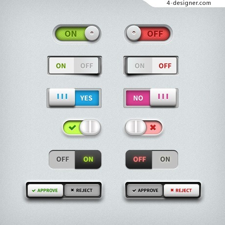 Variety switch psd material