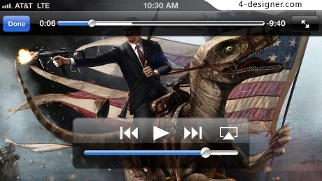 Video player controls PSD material