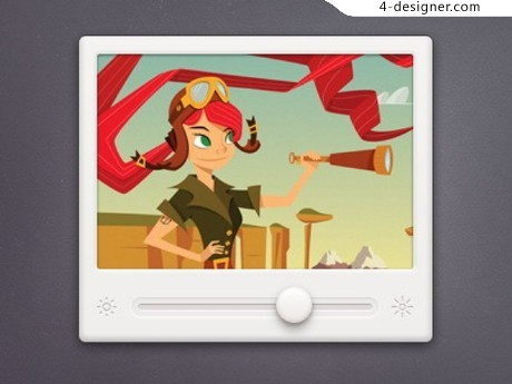 Video player interface psd material
