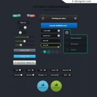 Web UI elements psd material