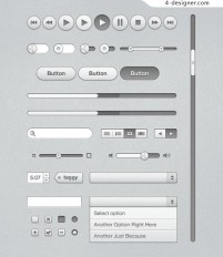 Web User Interface Pack PSD material