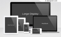 Web project results demonstrate the full range of Apple family PSD template material