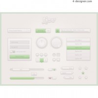 Web20 user interface psd material
