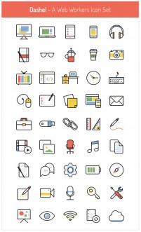 Dashel Icon Set 45 Icons SVG PSD PNG