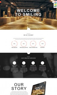 Exquisite web template responsive rich effects