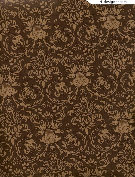 Vintage floral pattern complicated