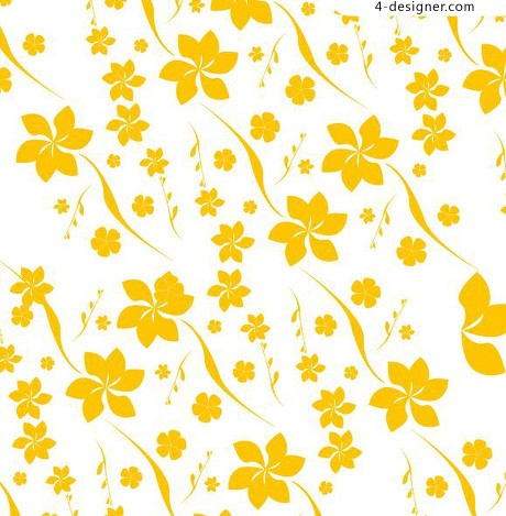 2 yellow flowers background pattern