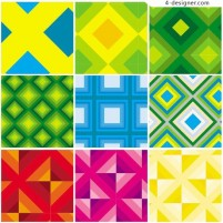 Bright colors and diamond lattice vector pattern material