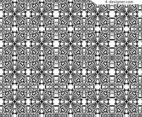 Classic black and white tile pattern background