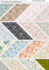 Classical pastoral pattern background