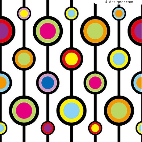 Colors circle background pattern material