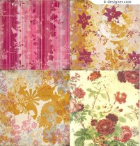 Delicate floral pattern shading material
