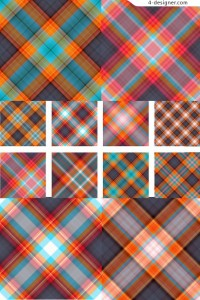 Editor s Choice section one hundred exquisite pattern material series Scotland Plaid