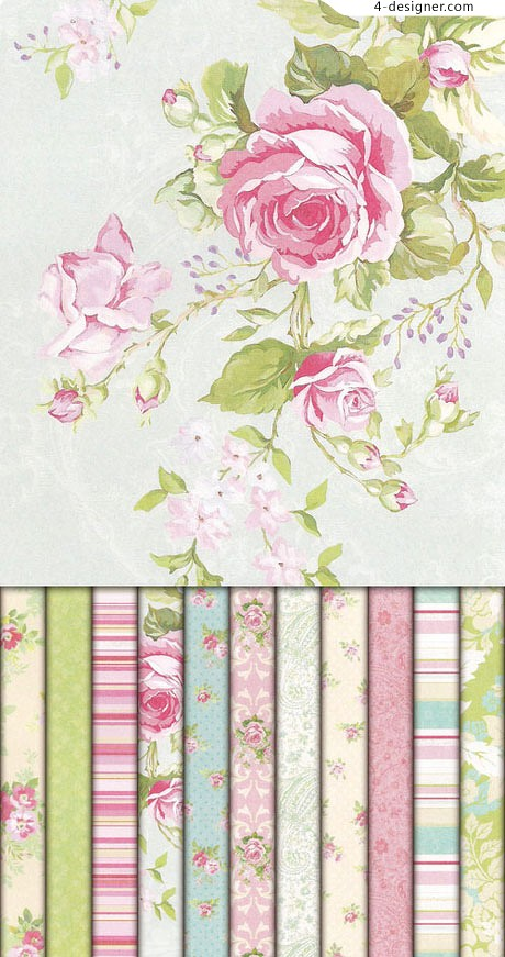 Elegant floral background pattern material