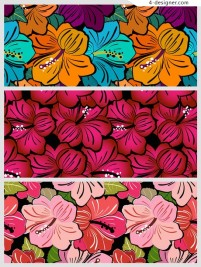 Gorgeous flower pattern material