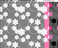 Paper cut floral pattern material