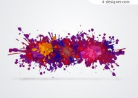 Pigment ink colorful background