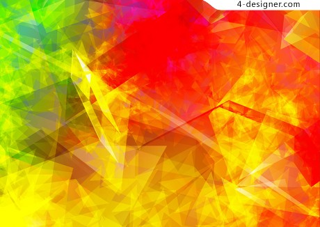 Polygon flame background pattern