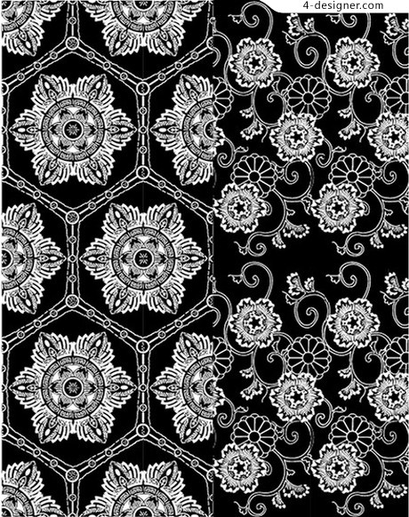 Traditional tiled background pattern material Series 2