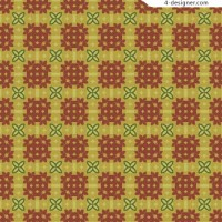 Warm colors and textile pattern material 1