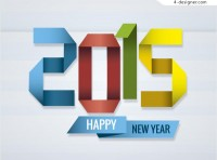 2015 New Year s Day Vector material