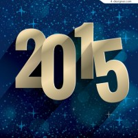 2015 New Year s Day holiday vector material