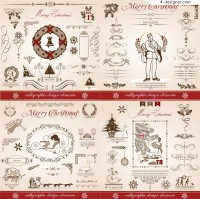 European Christmas decorative elements