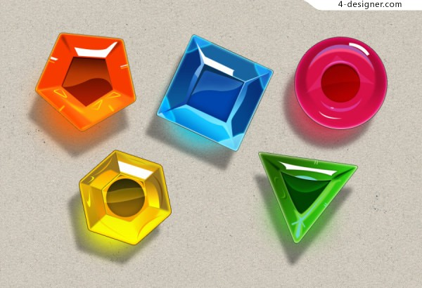 Gemstone jewelry lianliankan game icon psd