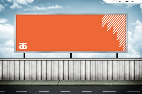 Outdoor advertising PSD material