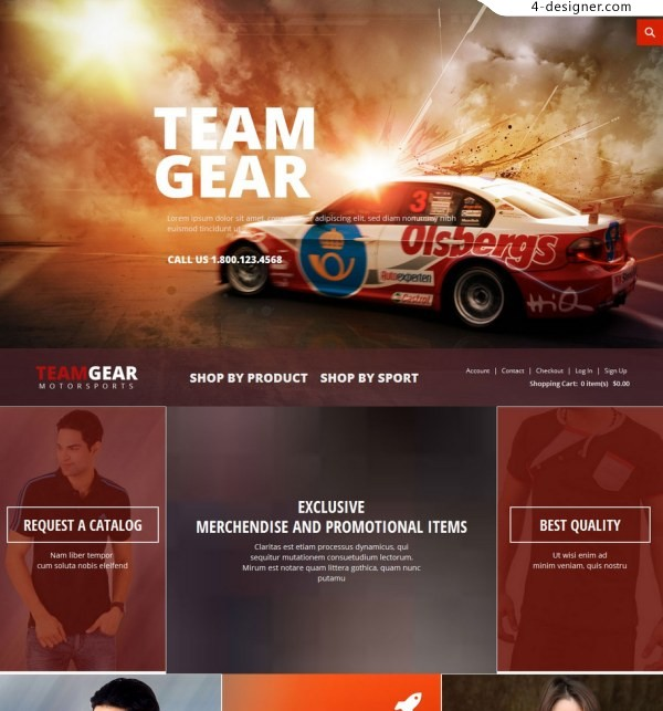 Responsive Website Template HTML5 CSS3 fine response template abroad