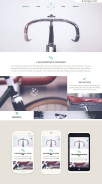 Responsive Website Template HTML5 CSS3 foreign exquisite response template 2