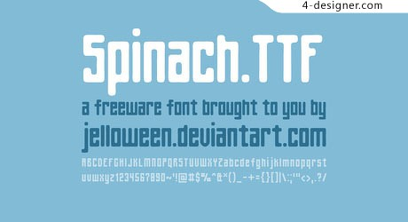 1 rounded edges English font