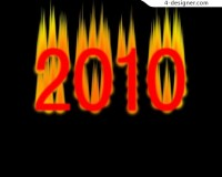 2010 New Year s creative font design