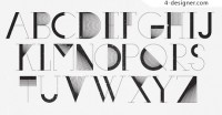 Abstract vector font lines constitute material