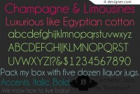 Champagne limousin English fonts footage