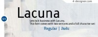Classic and practical lacuna font